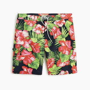 "9"" stretch board short/swim trunk floral"
